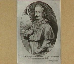 Portret van kardinaal-infant Ferdinand, met linksachter op de achtergrondeen veldslag