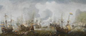 De slag bij Gibraltar op 25 april 1607