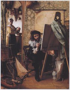 Vermeer in zijn atelier