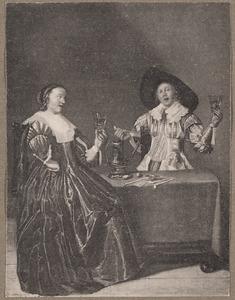 Elegant rokend en drinkend paar