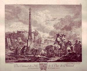 Zeehaven met obelisk