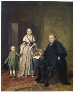 Portret van Didericus van der Kemp (1731-1780), predikant en hoogleeraar te Leiden, met zijn gezin