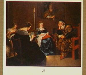 Bezoek van Sint Nicolaas aan de arme edelman met drie dochters