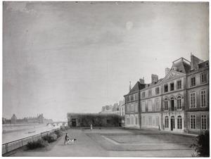 De achterzijde van de Bataafsche ambassade te Parijs ten tijde van het ambassadeursschap van Rutger Jan Schimmelpenninck