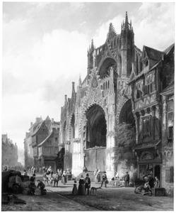 De facade van Kathedraal Saint Maclou in Rouen