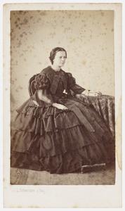 Portret van Wilhelmina Johanna Hooft (1833-1901)