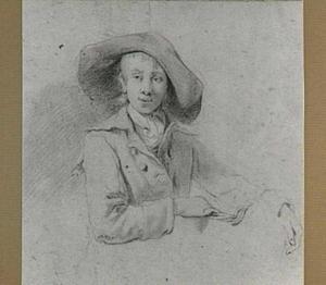 Jongeman met jas en hoed, in halffiguur