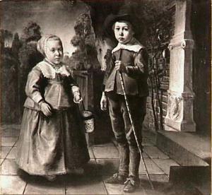 Dubbelportret van een jongen en een meisje uit de familie De Pottere