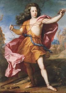 Portret van kroonprins Friedrich Wilhelm van Pruisen als David