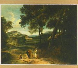 Zuidelijk landschap met Christus en de Kanaïtische vrouw