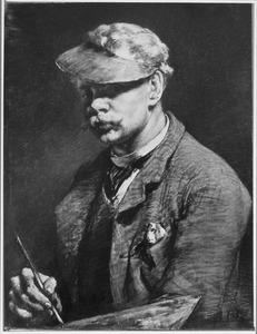 Portret van de schilder Ferdinand Hart Nibbrig