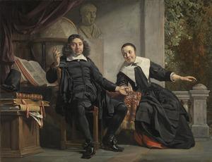 Dubbelportret van Abraham Casteleyn (?-1681) en Margaretha van Bancken (?-1693)