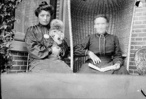 Portret van Marie Jordan Breitner met haar moeder