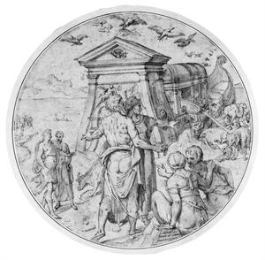 De ontscheping van de dieren uit de ark van Noach