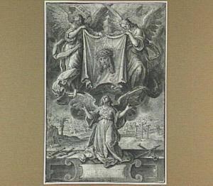 Drie engelen met de zweetdoek van Christus