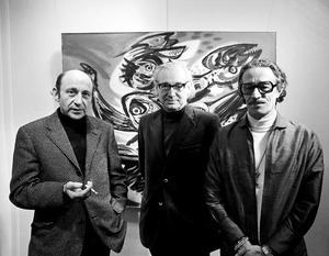 Portret van Theo Wolvecamp, Anton Rooskens en Eugène Brands