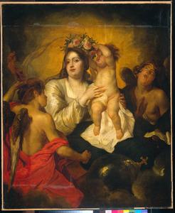 De verheerlijking van Maria door musicerende engelen