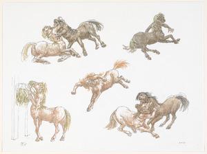 Studieblad met centauren