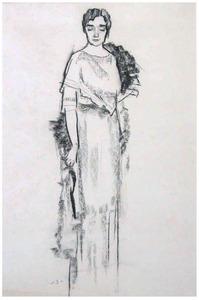Studie voor portret van mevrouw Jeanne van der Vuurst de Vries-Godin (1876-1965)