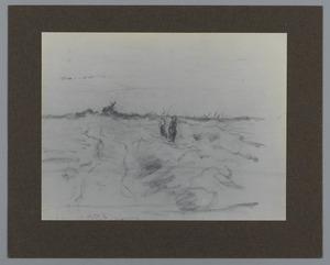 Landschap met molen aan de horizon