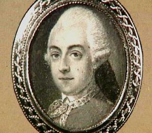 Portretminiatuur van Joh. G. van Oldenbarneveld, genaamd Witte Tullingh, 1710-1747, Majoor der Cavallerie