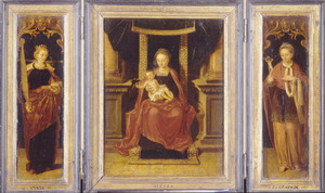 St. Lucia (links), Madonna met kind (midden), St. Beatrix (rechts)