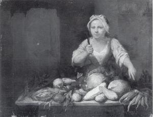 Vrouw met groenten