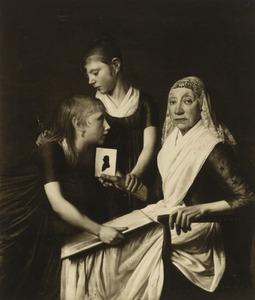 Portret van Baukje Brouwer (1734-1808), Dieuwke (Debora) Menalda (1794-1821) en Baukje Fockens (1795-1877)
