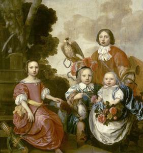 Groepsportret van de kinderen van Tjears Gerlacius en Beerta Alti