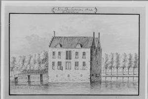 Rechter- en achterzijde van de ridderhofstad Bolenstein (of Boelenstein) bij Maarssen