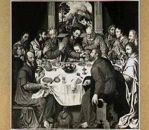 Het Laatste Avondmaal met mogelijk de portretten van Derck toe Boecop en zijn zonen Arent, en Egbert (?-1578) als apostelen