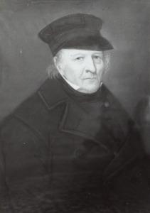 Portret van een man, genaamd  Isaac Marinus Jacob Hoog (....-1889)
