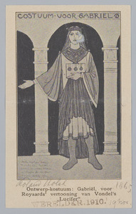 Kostuumontwerp 'Gabriël' voor Vondel's Lucifer.