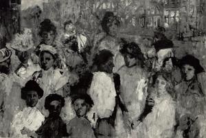 Meisjes op de Rozengracht te Amsterdam