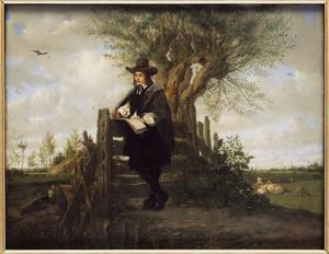 Portret van Paulus Potter, tekenend in de natuur