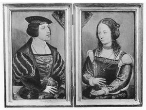 Portret van Ferdinand van Oostenrijk; portret van de echtgenote van Ferdinand van Oostenrijk
