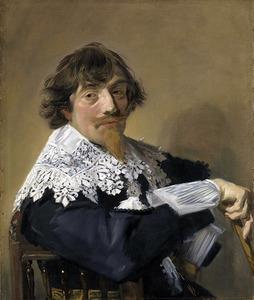 Portret van een man genaamd Nicolaes Hasselaer (1593-1635)