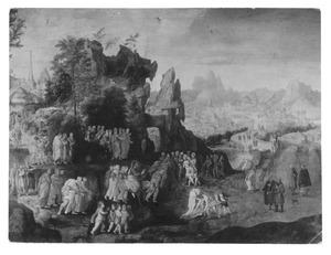 Landschap met de intocht van Christus in Jeruzalem