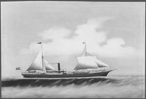 """Stoomschip """"Prins Alexander"""" van de Nederlandsch-Indische Stoomvaart Maatschappij"""