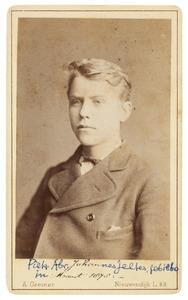 Portret van een jonge man, mogelijk Pieter Abraham Johannes Jeltes (1863-1889)