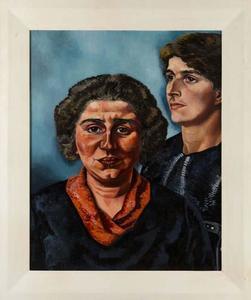 Portret van Berthe Edersheim (1906-?) en Leni edersheim (?-1992)