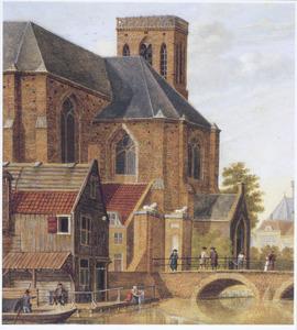 Gezicht op het koor van een kerk