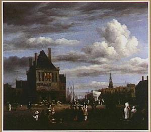 Gezicht in Amsterdam: de Dam met de Waag