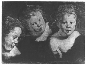 Studie van drie kinderkopjes