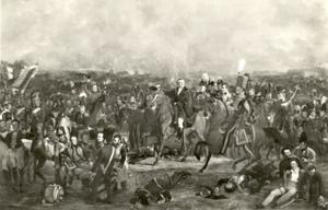 De slag bij Waterloo op 18 juni 1815