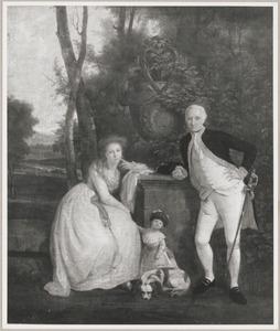 Portret van Victor Dittlinger (1747-1807) met vrouw en dochter