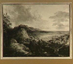 Panoramisch landschap met herders en vee