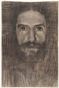 Self-portrait, face and background