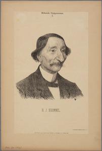Portret van de schrijver H.J. Schimmel