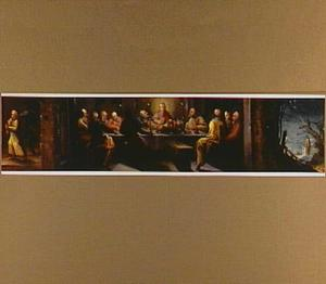 De duivel blaast Judas het verraad in; het Laatste Avondmaal; de zelfmoord van Judas